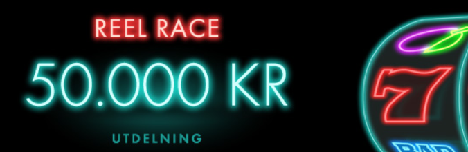 Reel Race - slots turnering med 50,000 kr i potten hos Bet365
