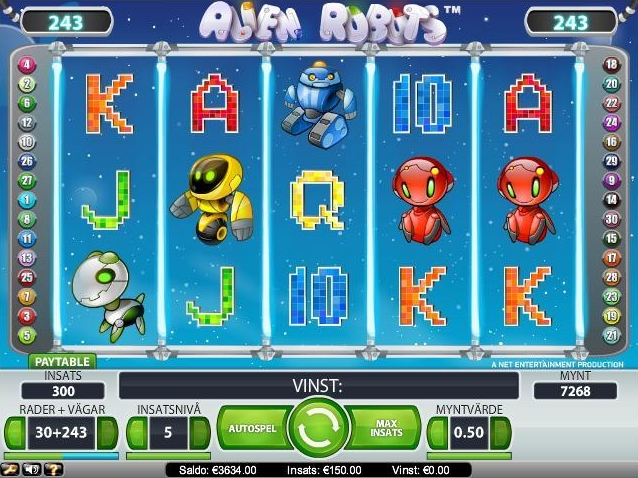 10 gratis spins p Alien Robots hos Betsson Casino