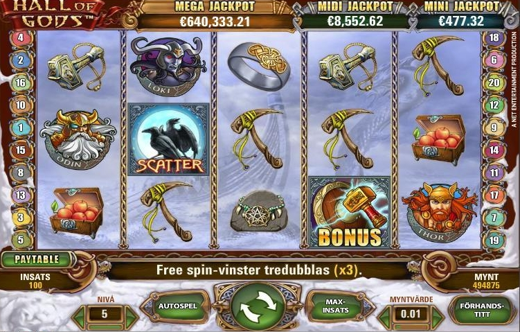 Hall of Gods slots spel